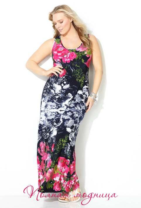 Летние платья и сарафаны для полных