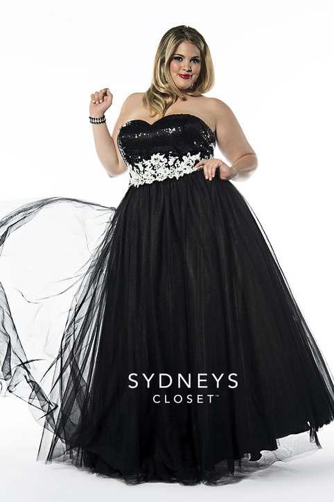 Новогодние вечерние платья для полных женщин 2015 американского бренда Sydney's Closet