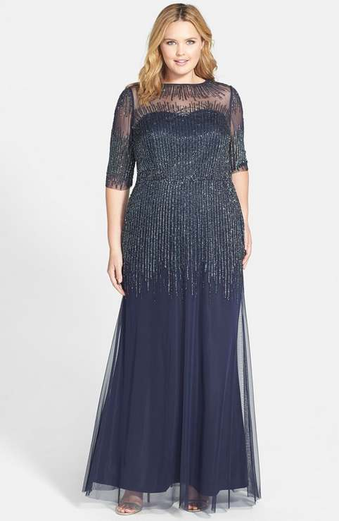 Adrianna Papell Plus Size Evening Dresses 2014-2015