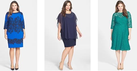 Модные платья для полных девушек лето 2015