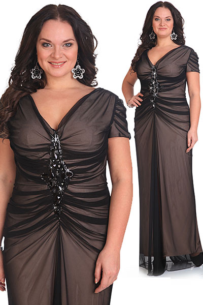 Трикотажные платья для полных женщин