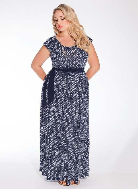 Длинные платья и сарафаны для полных модниц американского бренда Igigi. Лето 2014
