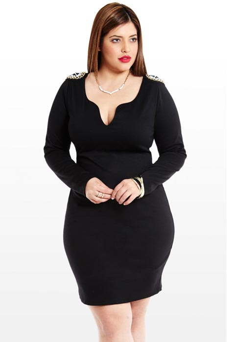 Fashion to Figure Plus Size Mini Dresses. Fall-Winter 2013-2014