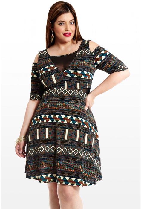 Fashion to Figure Plus Size Mini Dresses. Fall-Winter 2013-2014