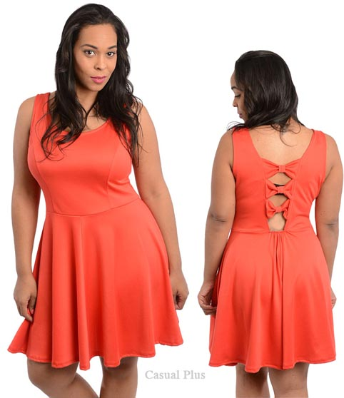 Casual-Plus Size Dresses 2014