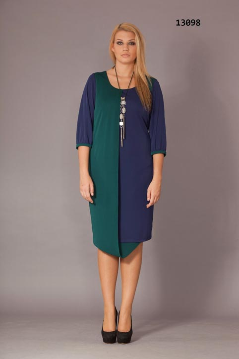 Plus Size Dresses of the Turkish Brand Gemko. Fall-Winter 2013-2014