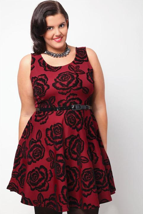 Yours Plus Size Mini Dresses. Fall 2013