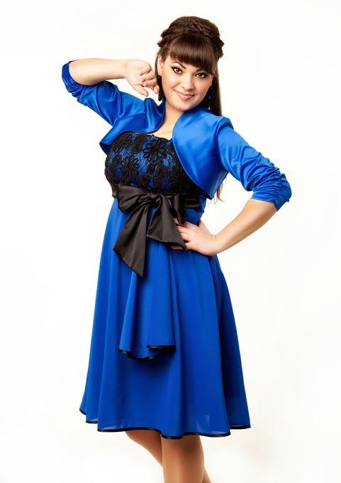 Нарядные платья для полных модниц российской компании A. Nelly. Весна-лето 2013