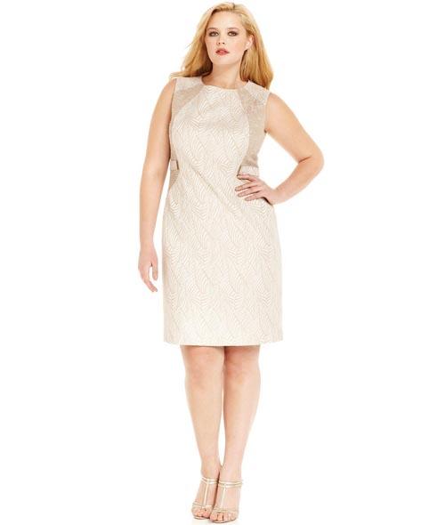 Calvin Klein Plus Size Dresses. Spring-Summer 2013