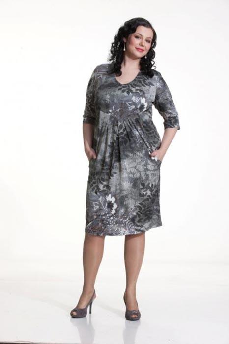 Модели повседневных платьев для полных женщин