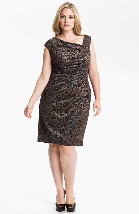 Adrianna Papell Plus Size Dresses. Winter-spring 2013