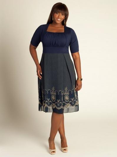 Элегантные платья для полных женщин