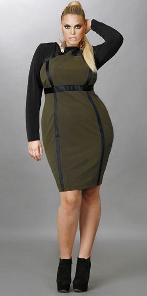 Нарядные платья для полных модниц от Monif C. Осень 2012 | Платья