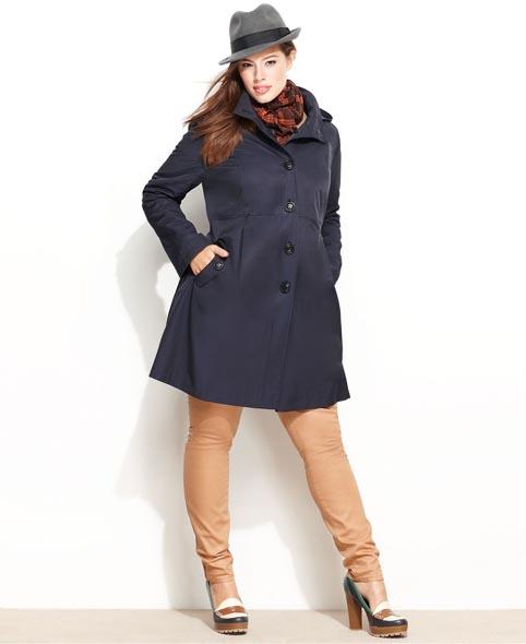 Модные плащи для полных женщин. Осень 2012 | Верхняя одежда для полных