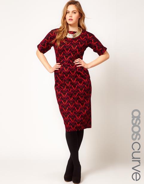 Нарядные платья для полненьких девушек от Asos. Осень-зима 2012-2013