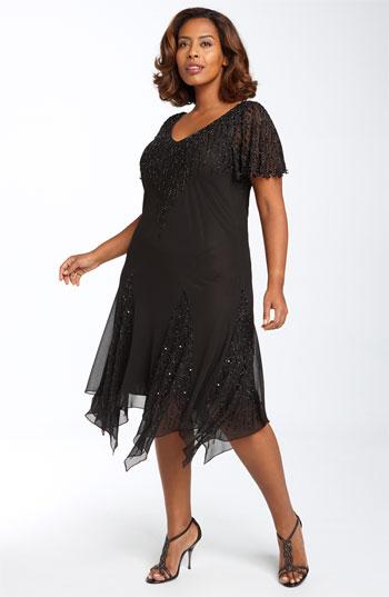 И другие новогодние платья для полных