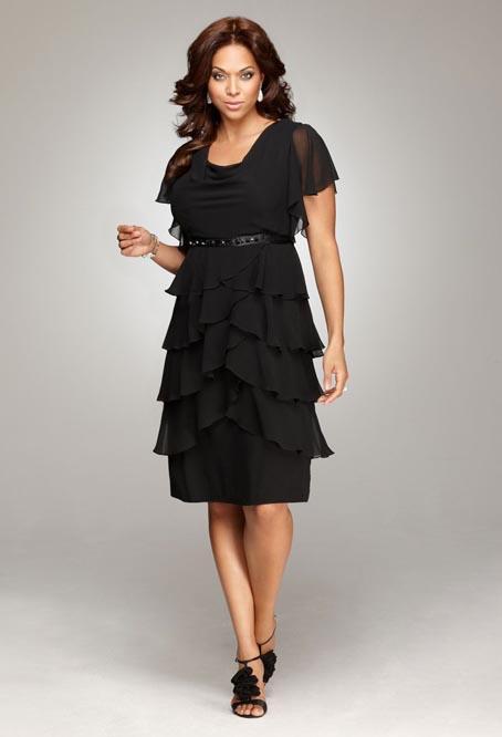 Нарядные платья для женщин с небольшой полнотой: как подобрать