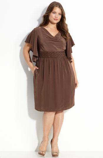 Трикотажные платья для полных фото