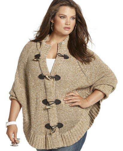 Модные вязаные вещи для полных женщин своими руками